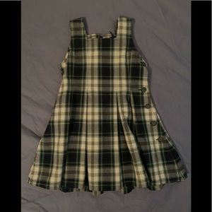 Girl's Ralph Lauren Cotton Plaid Dress 2T